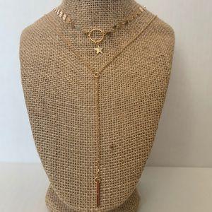 Jewelry - 💗2/$15 Layered star necklace